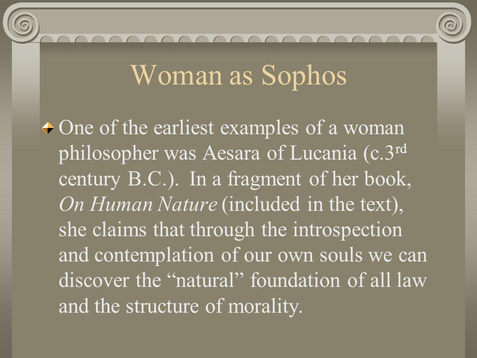 Woman as Sophos
