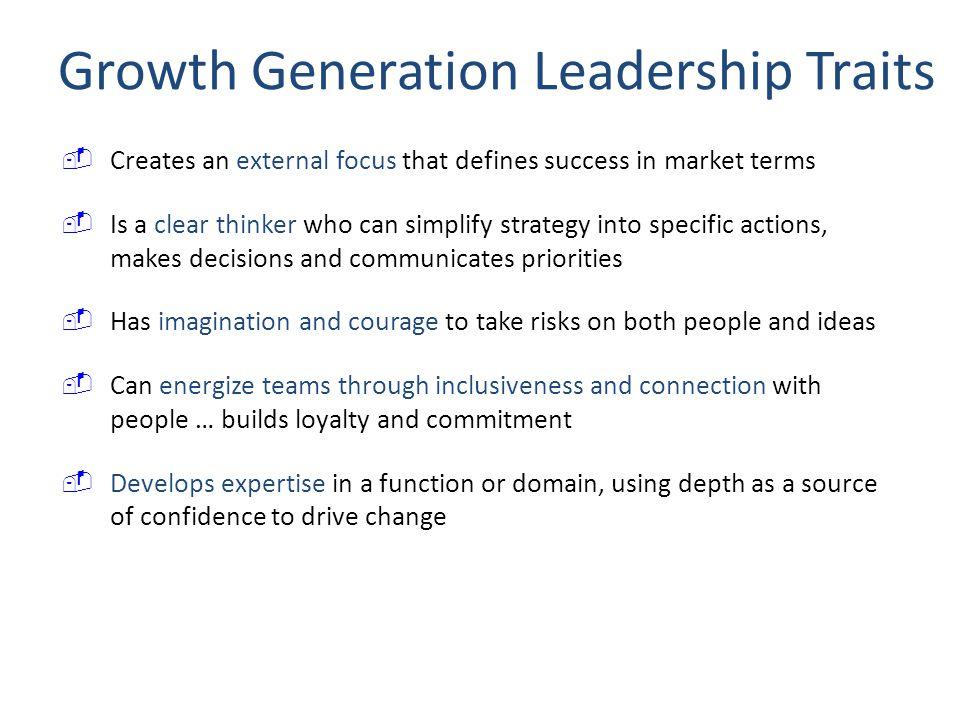 Growth Generation Leadership Traits