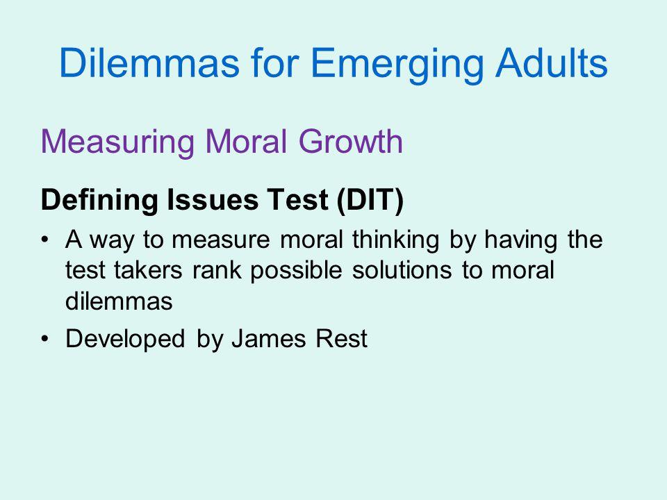 Dilemmas for Emerging Adults