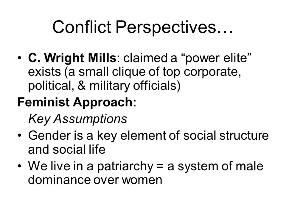 Conflict Perspectives…