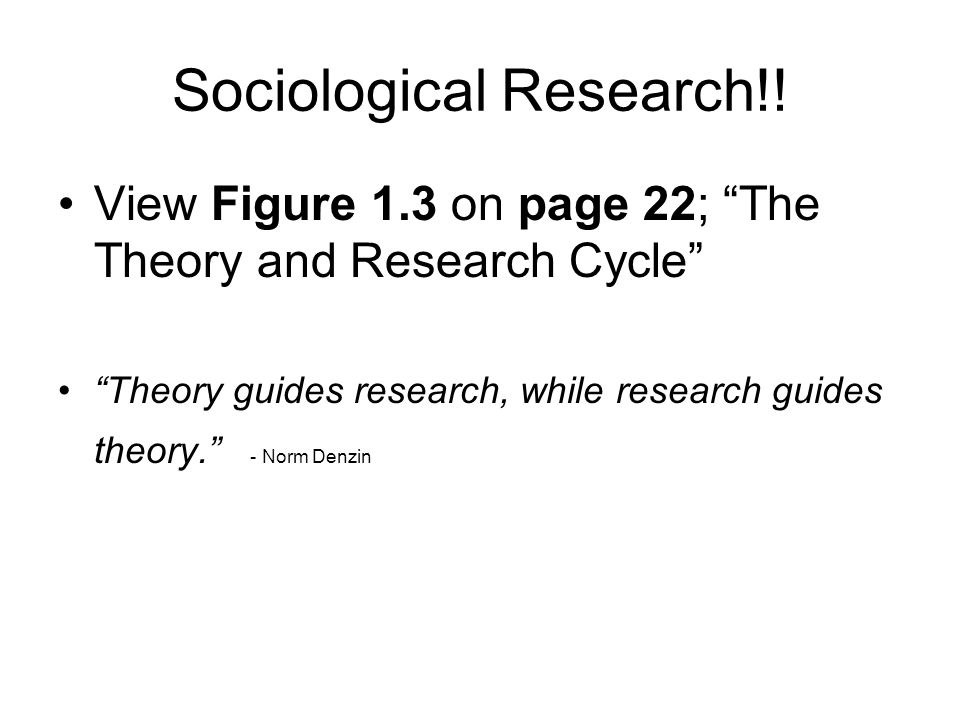 Sociological Research!!