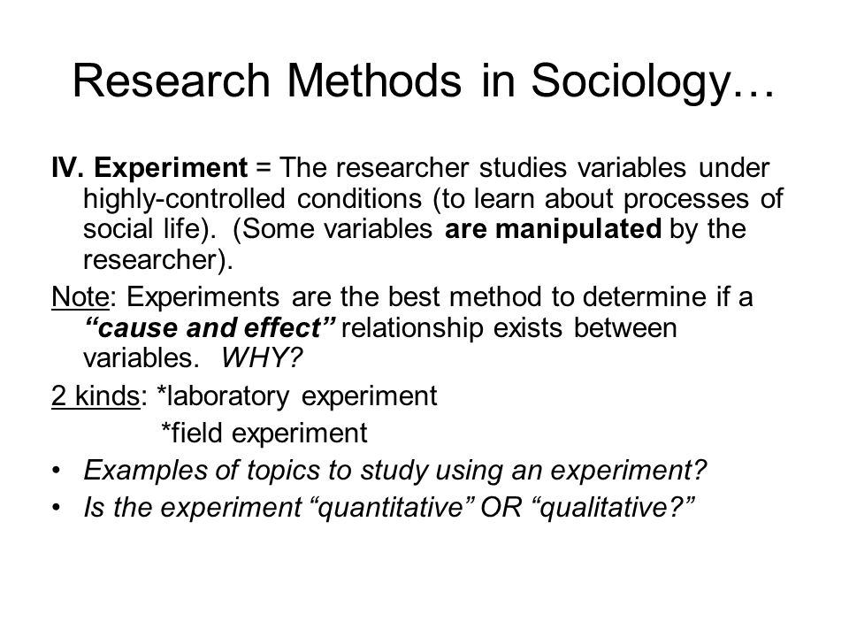 Research Methods in Sociology…