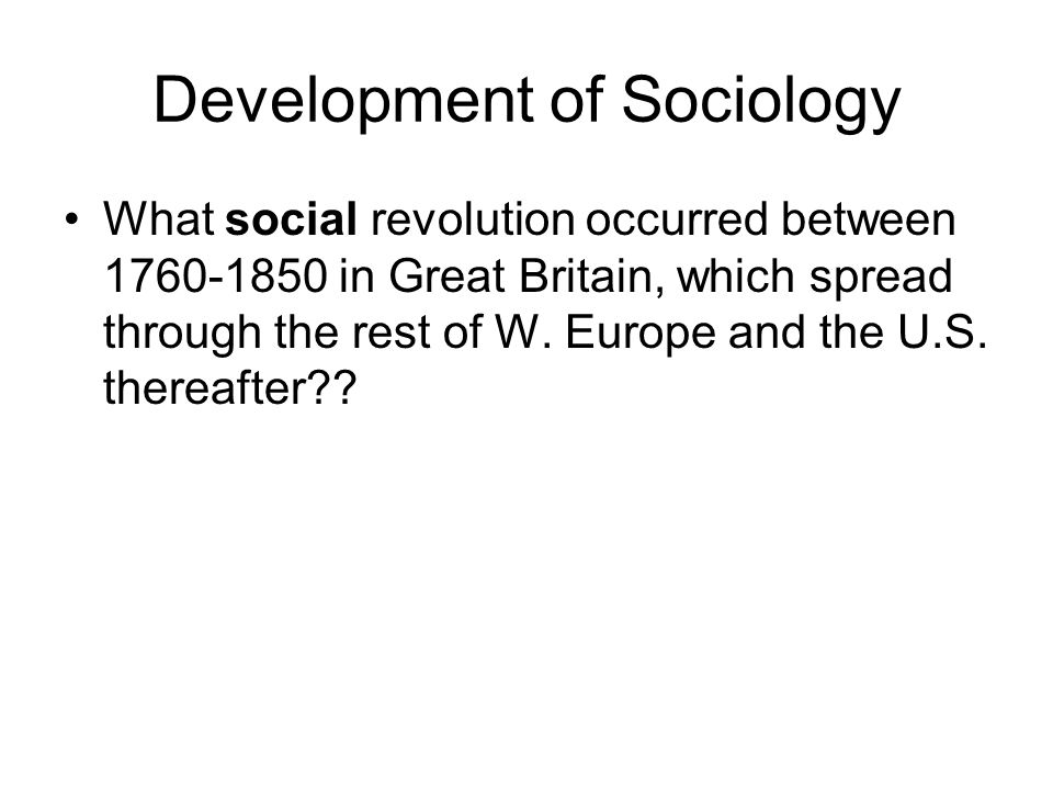 Development of Sociology