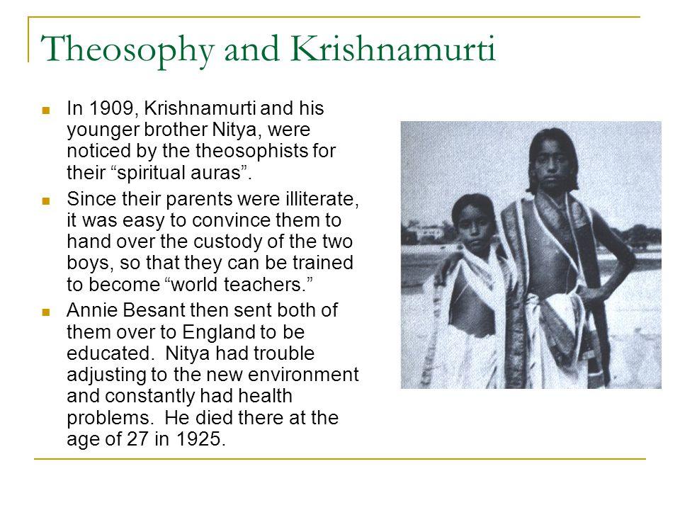 Theosophy and Krishnamurti