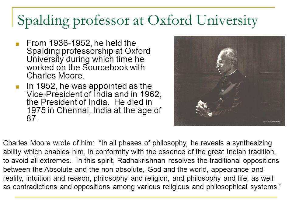 Spalding professor at Oxford University
