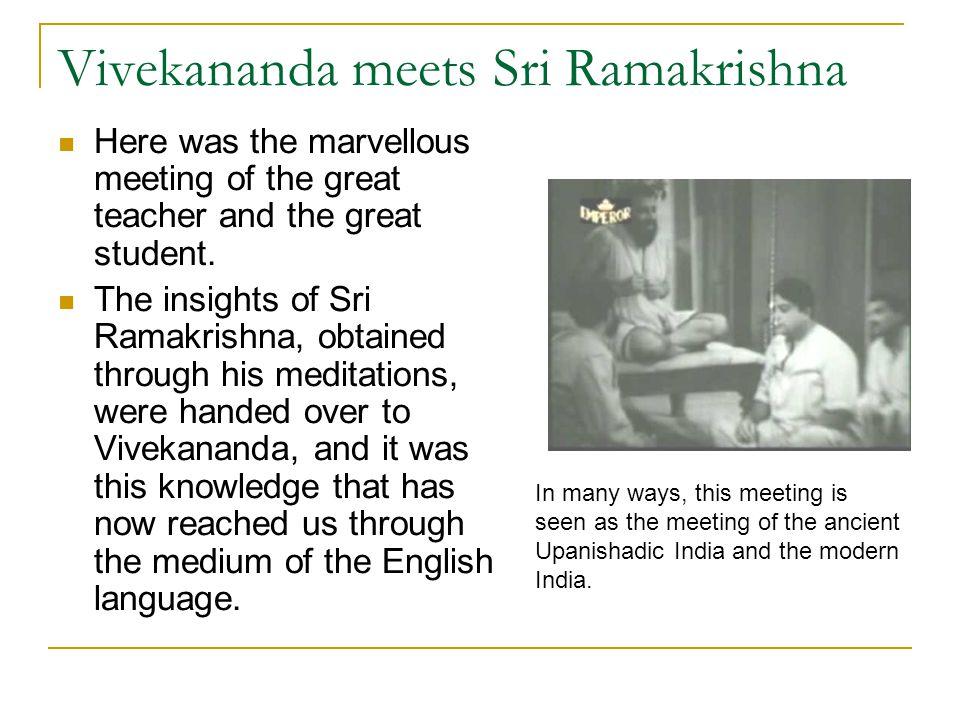 Vivekananda meets Sri Ramakrishna