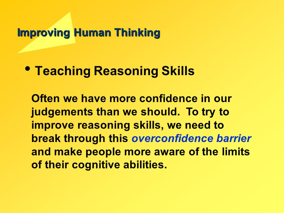 Improving Human Thinking