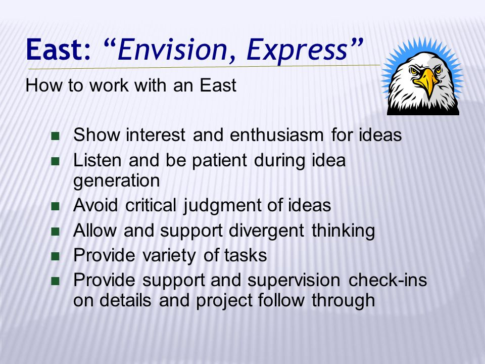 East: Envision, Express