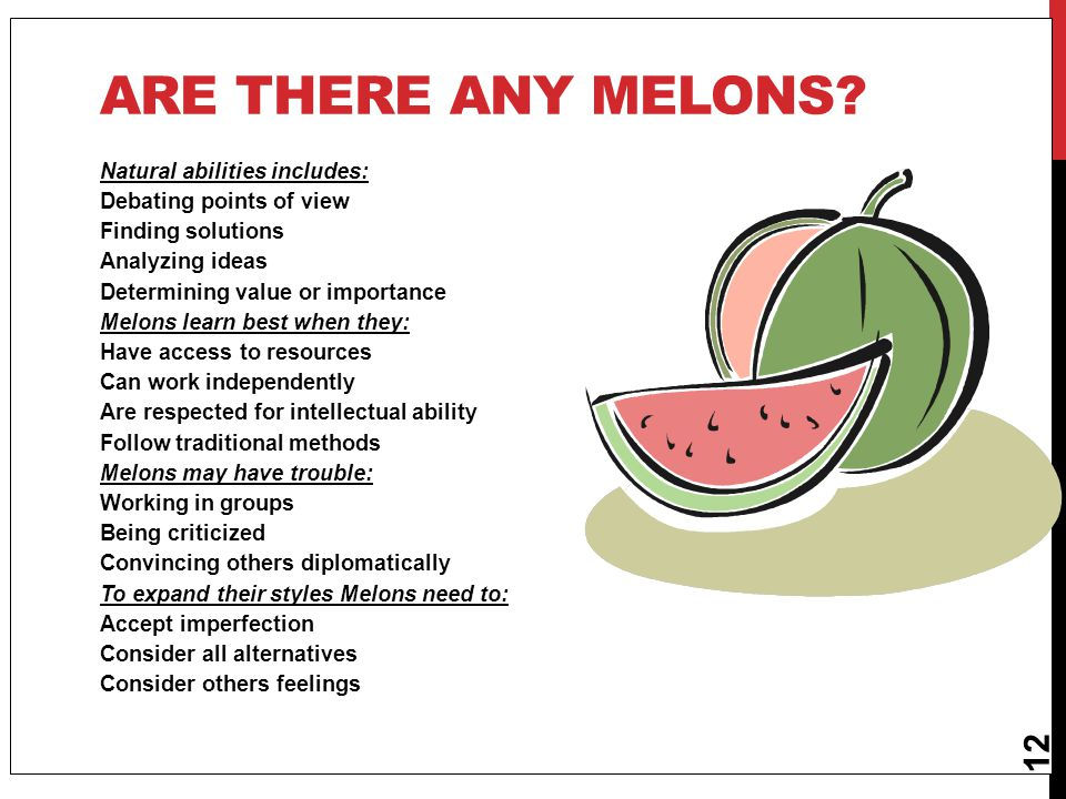 Are there any melons Natural abilities includes: