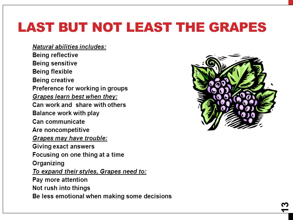 Last but not least the grapes
