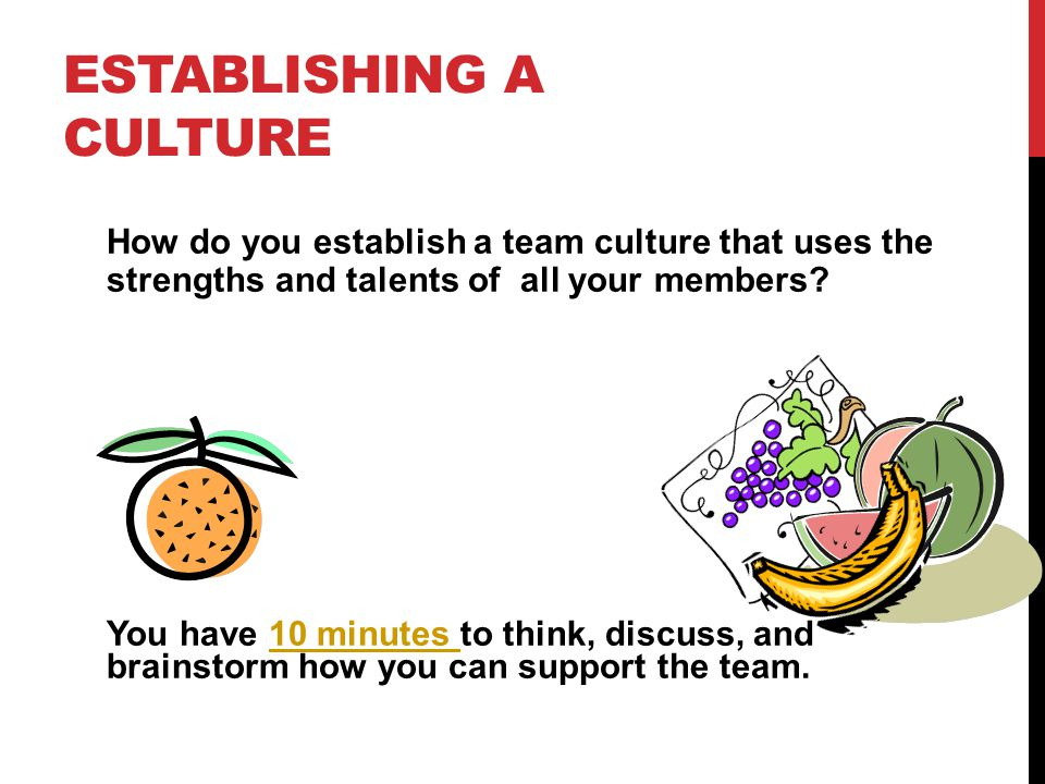 Establishing a Culture