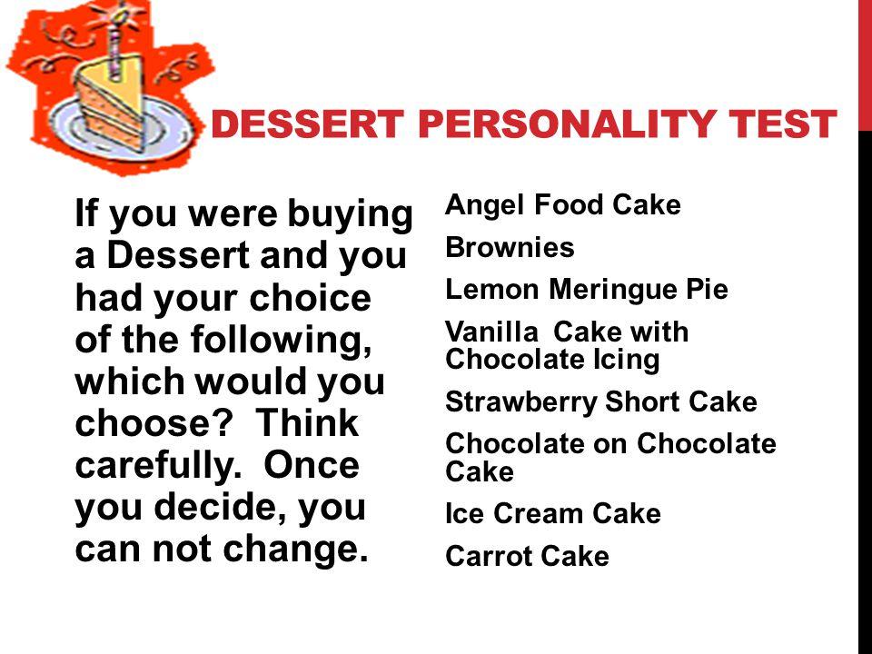 Dessert Personality Test