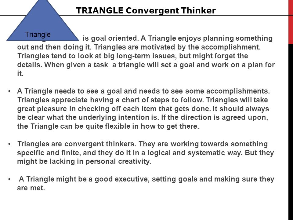 TRIANGLE Convergent Thinker