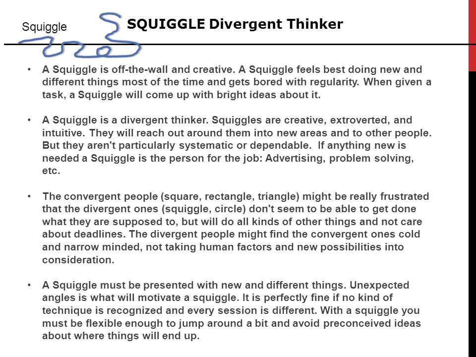 SQUIGGLE Divergent Thinker