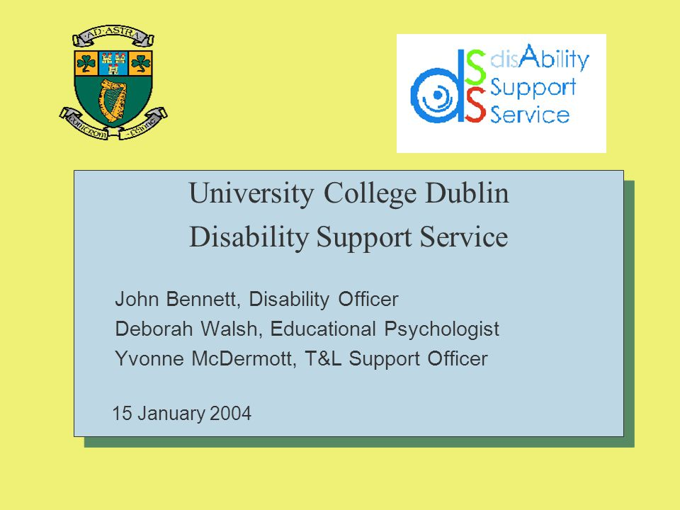 University College Dublin Disability Support Service