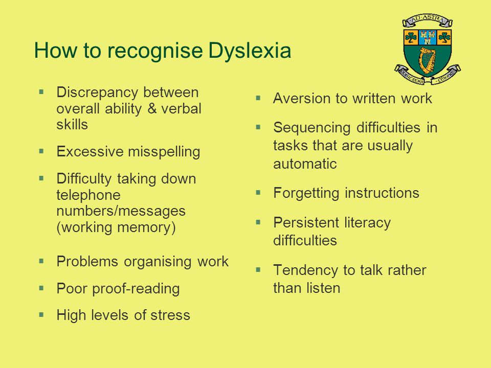 How to recognise Dyslexia