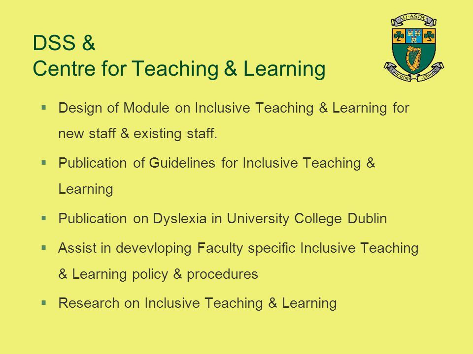 DSS & Centre for Teaching & Learning
