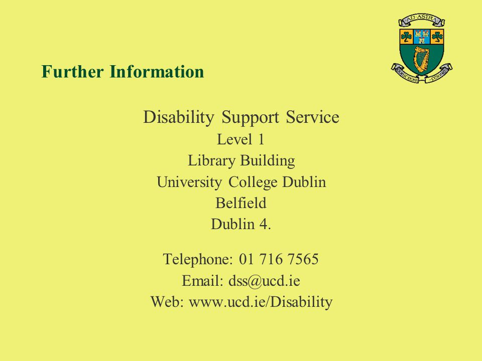 Disability Support Service
