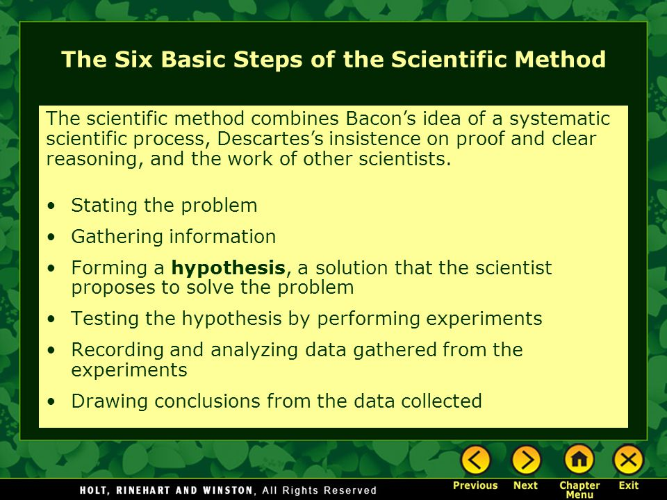The Six Basic Steps of the Scientific Method