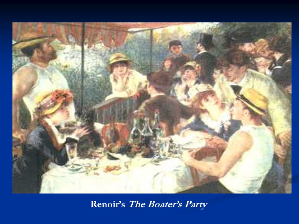 Renoir's The Boater's Party