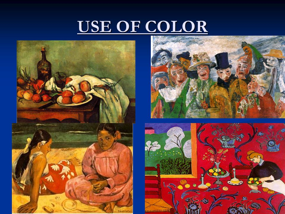 USE OF COLOR