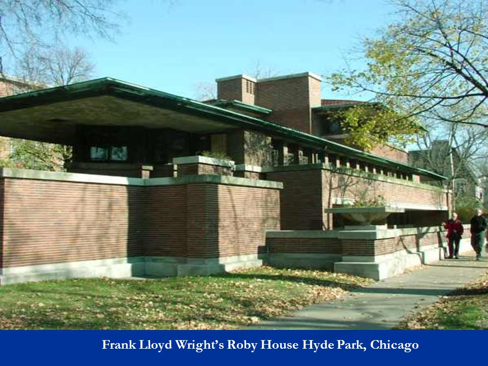 Frank Lloyd Wright's Roby House Hyde Park, Chicago