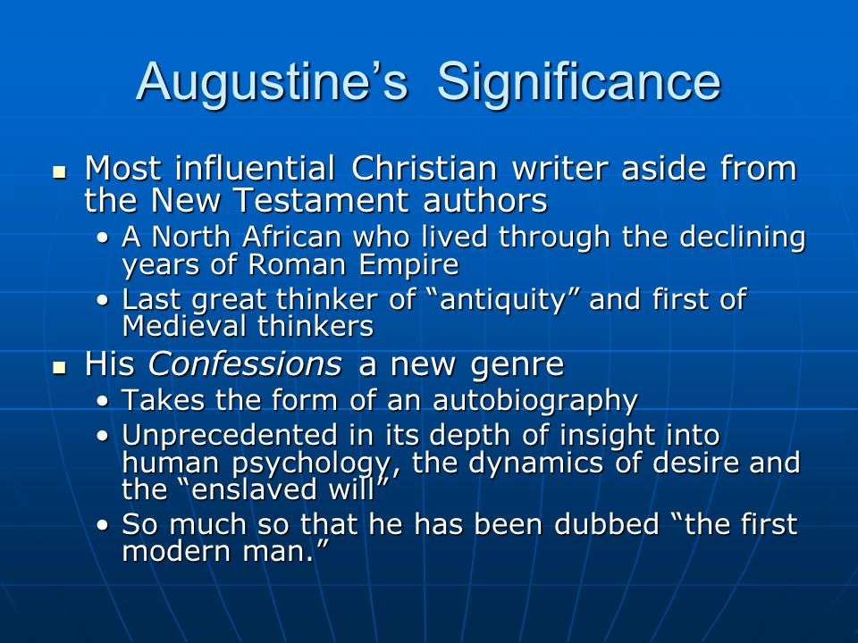 Augustine's Significance