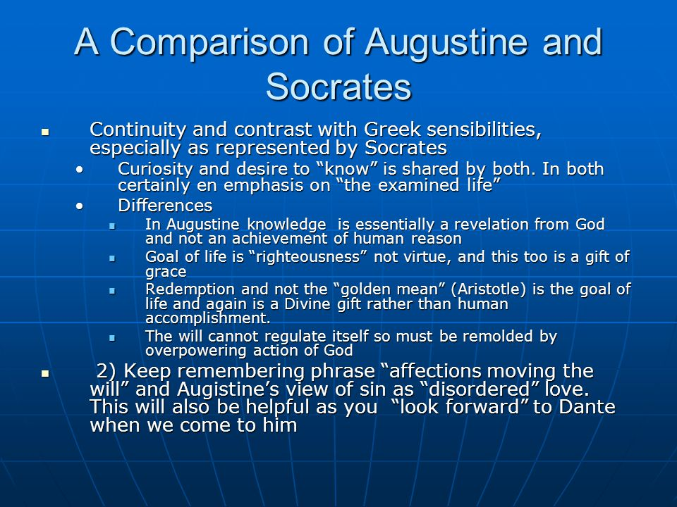 A Comparison of Augustine and Socrates