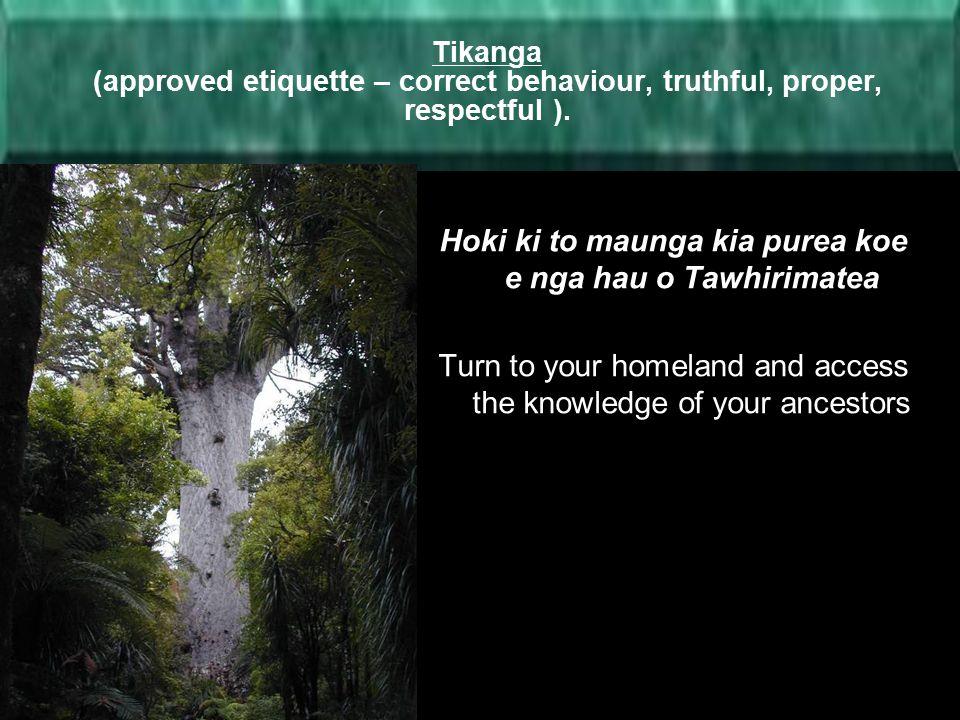 Hoki ki to maunga kia purea koe e nga hau o Tawhirimatea
