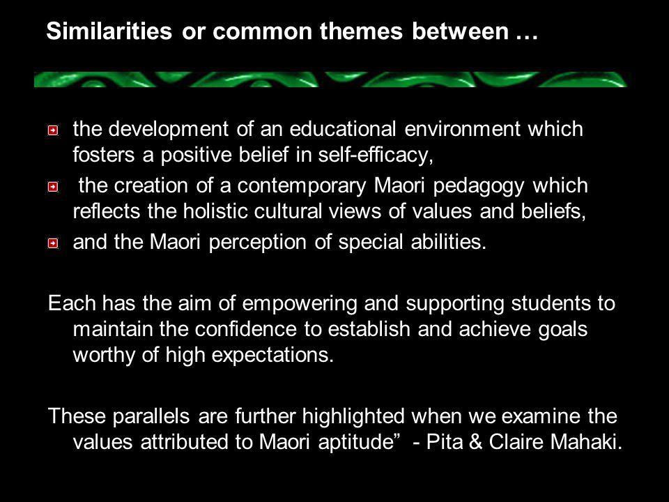 Similarities or common themes between …