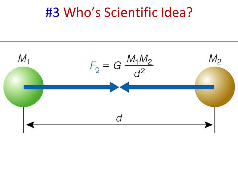 #3 Who's Scientific Idea