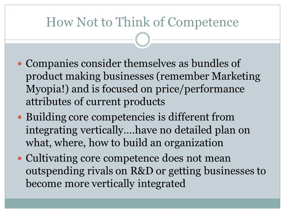 How Not to Think of Competence