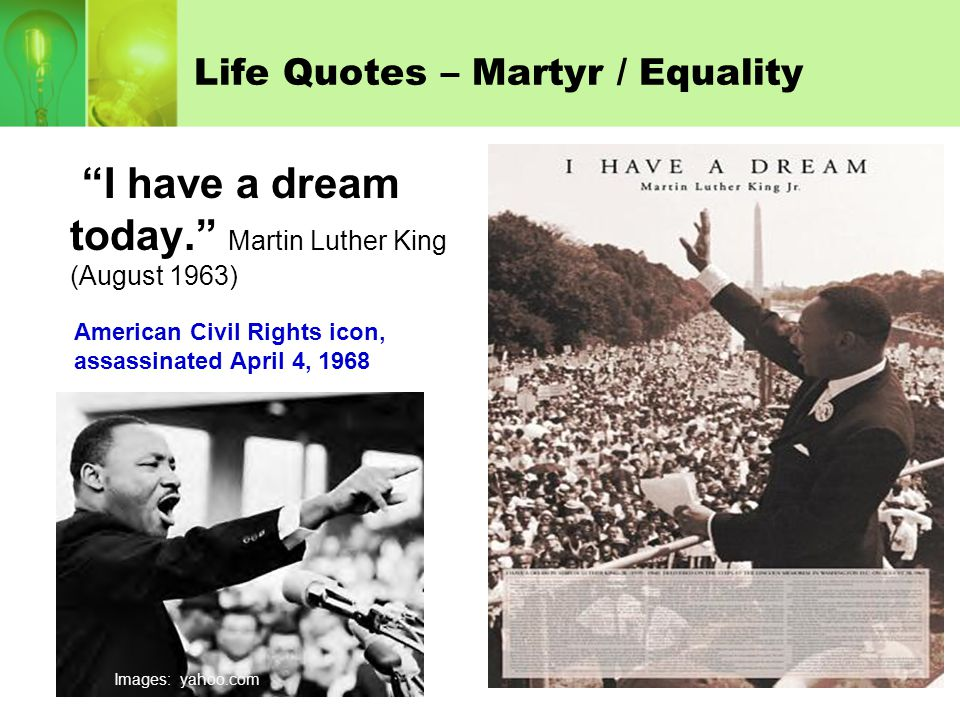 Life Quotes – Martyr / Equality