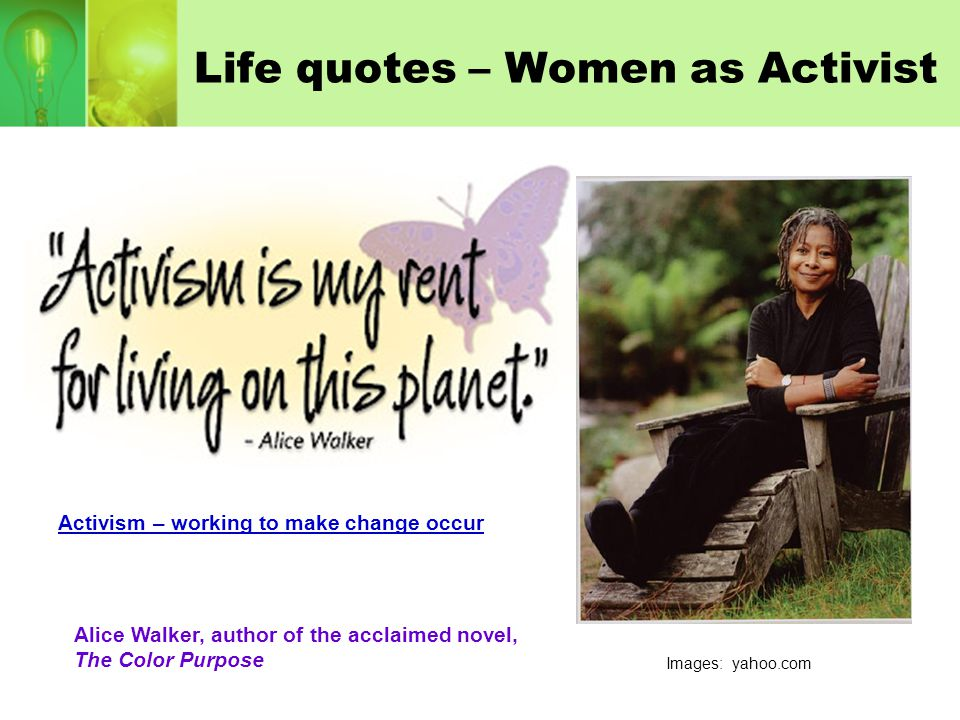 Life quotes – Women as Activist