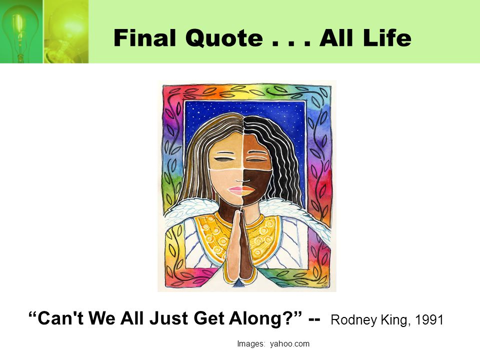 Can t We All Just Get Along -- Rodney King, 1991