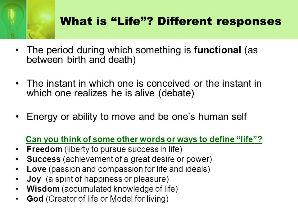What is Life Different responses