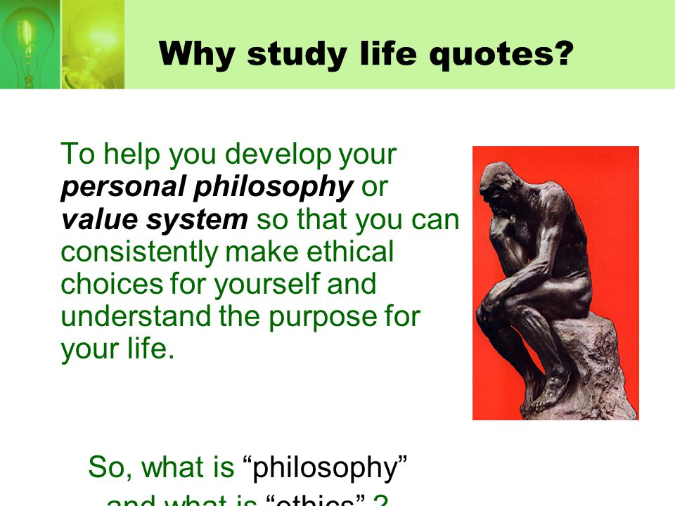 So, what is philosophy