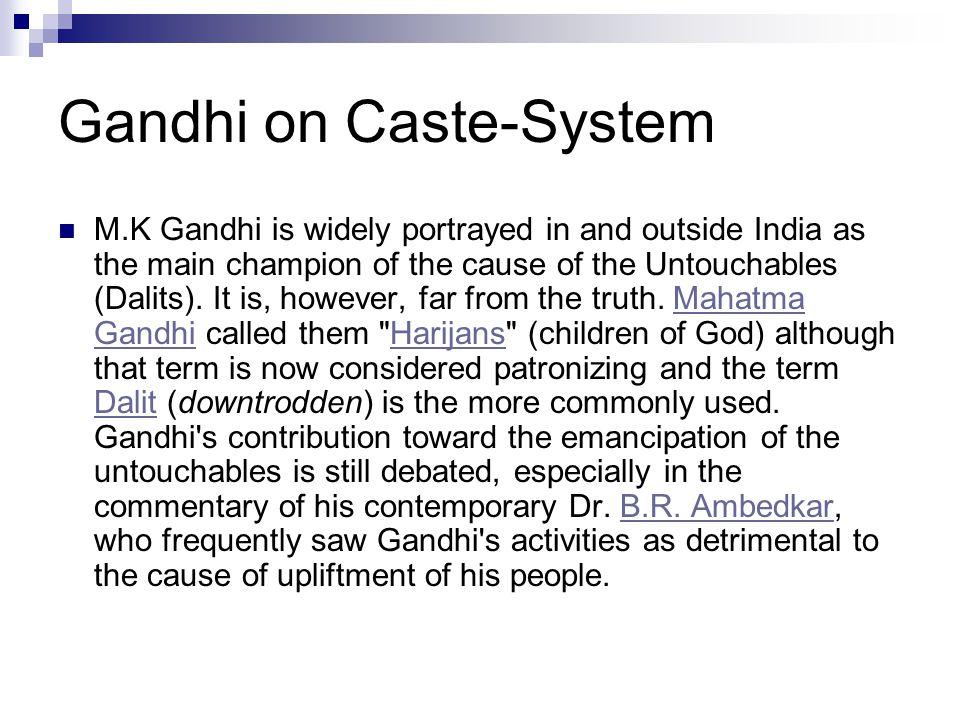 Gandhi on Caste-System