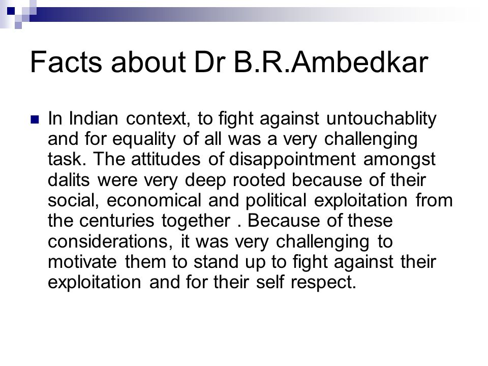 Facts about Dr B.R.Ambedkar