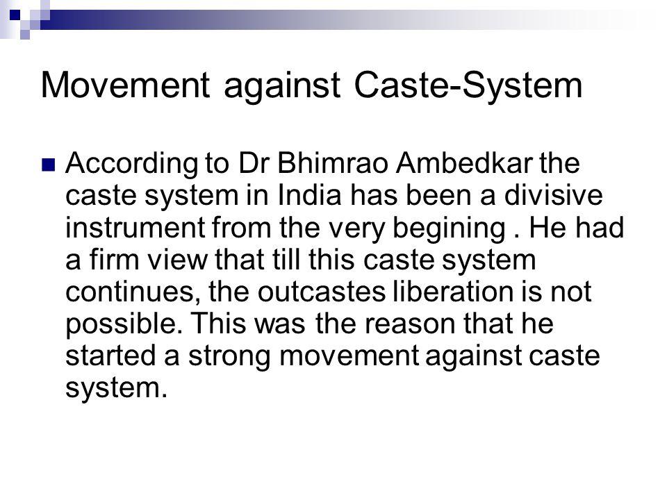 Movement against Caste-System