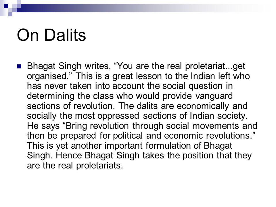 On Dalits