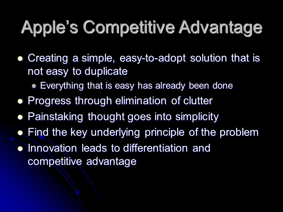 Apple's Competitive Advantage