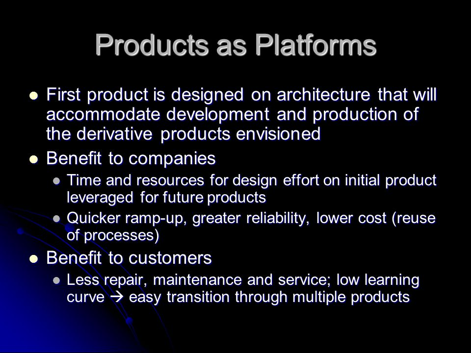 Products as Platforms