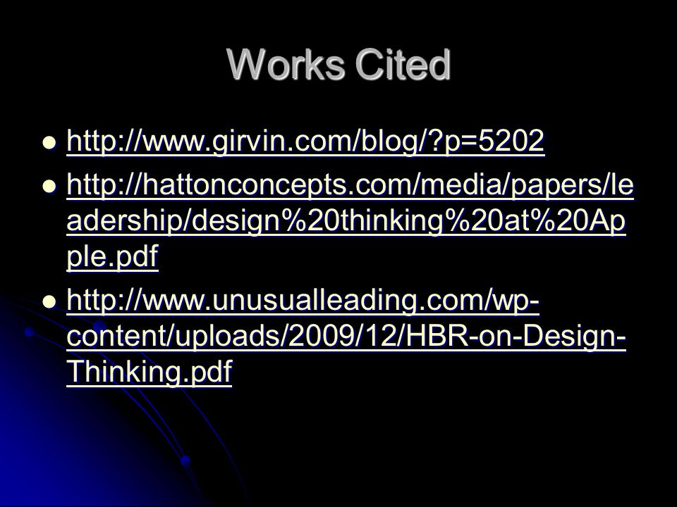 Works Cited http://www.girvin.com/blog/ p=5202
