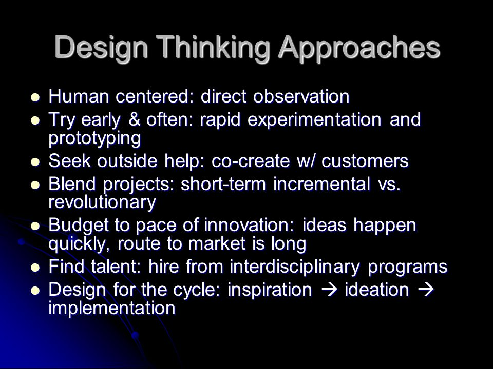 Design Thinking Approaches