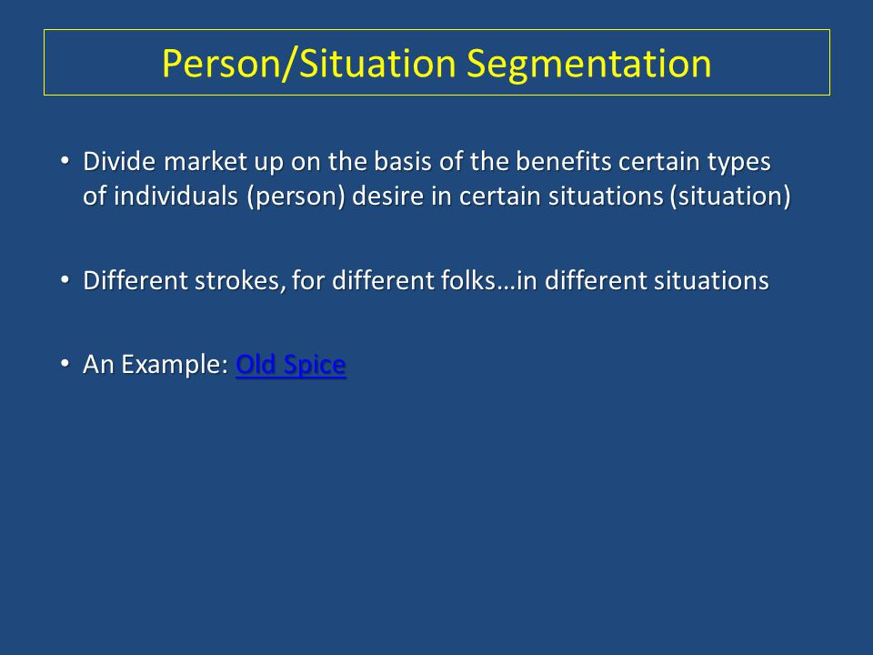 Person/Situation Segmentation