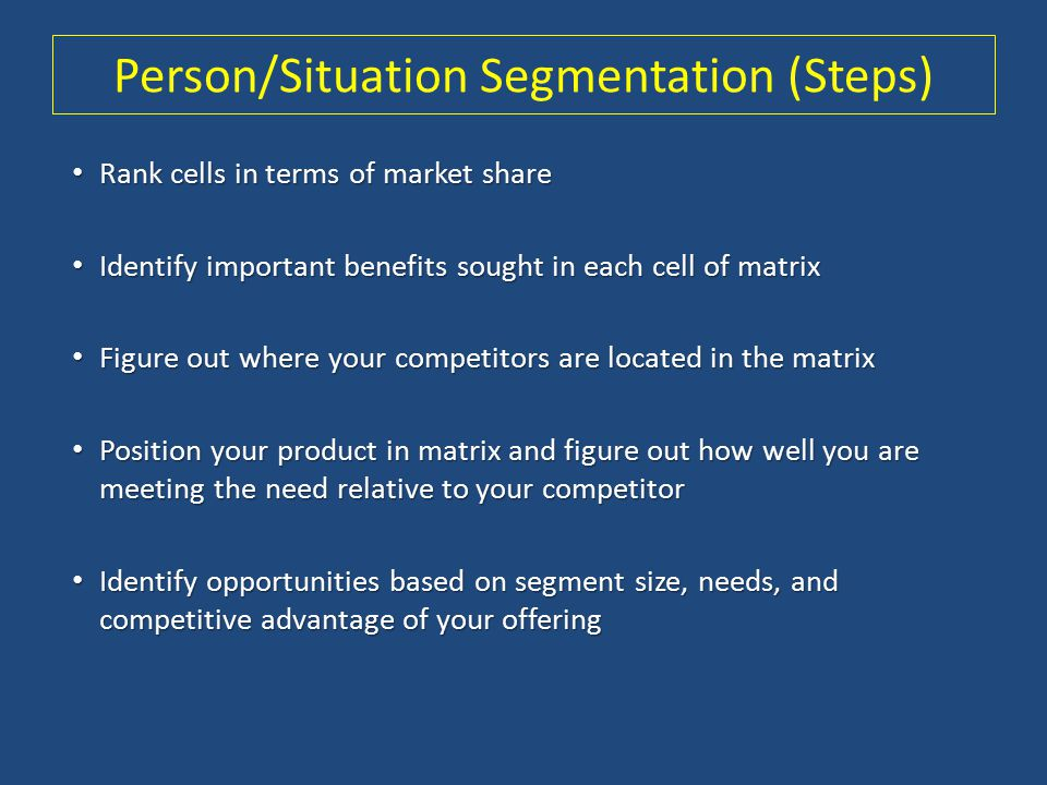 Person/Situation Segmentation (Steps)