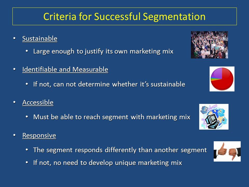 Criteria for Successful Segmentation