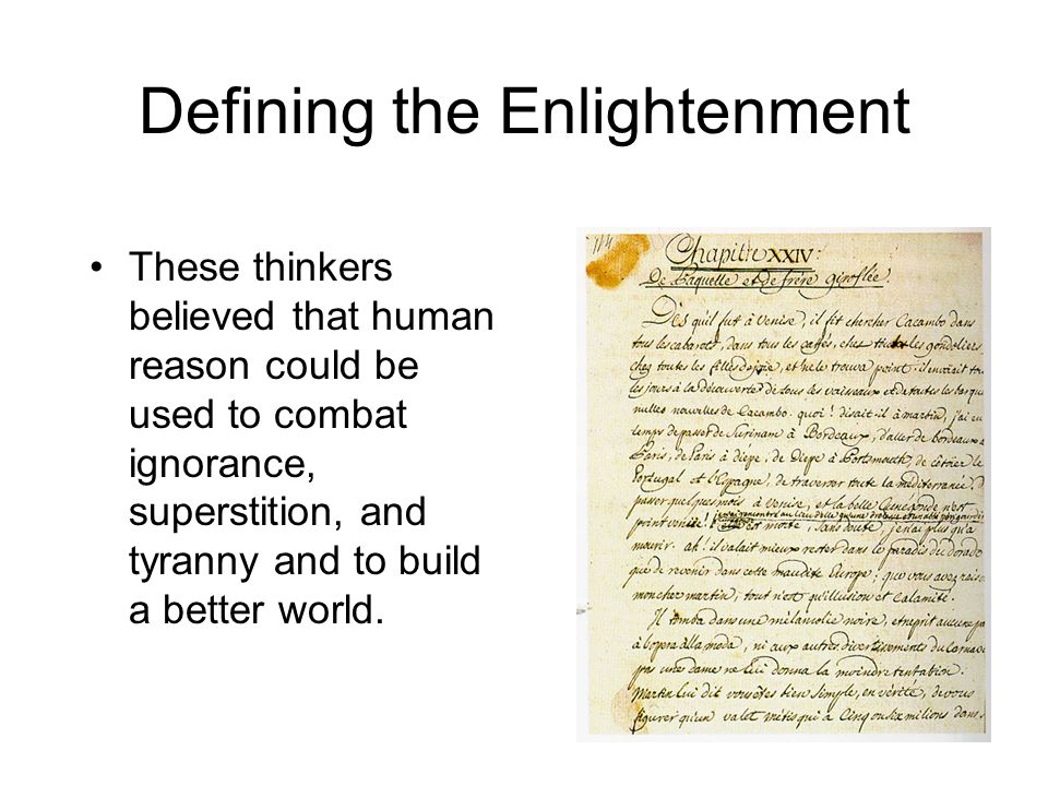 Defining the Enlightenment
