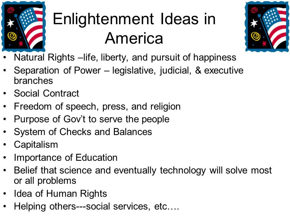 Enlightenment Ideas in America